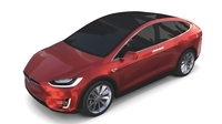 Tesla Model X Red 3D Model