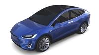 Tesla Model X Blue 3D Model