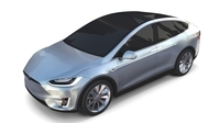 Tesla Model X Silver 3D Model