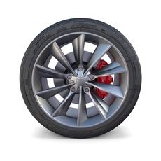 Tesla Model X Wheel and Brake 3D Model