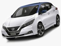Nissan Leaf 2018 3D Model