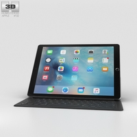 Apple iPad Pro 12.9-inch Space Gray 3D Model