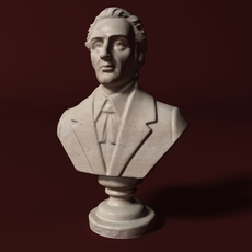 Chopin Bust 3D Model