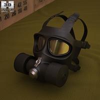 FG-1 Fire Mask 3D Model