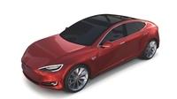 Tesla Model S 2016 Red 3D Model