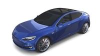 Tesla Model S 2016 Blue 3D Model
