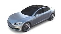Tesla Model S 2016 Silver 3D Model