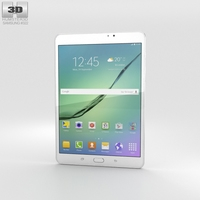 Samsung Galaxy Tab S2 8.0 Wi-Fi White 3D Model