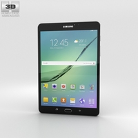 Samsung Galaxy Tab S2 8.0 Wi-Fi Black 3D Model