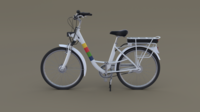 Electric City Bicycle 3D Model