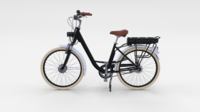 Electric City Bicycle Black 3D Model