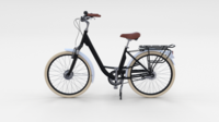 City Bicycle Black 3D Model