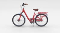 City Bicycle Red 3D Model