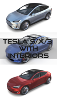 2017 Tesla S-X-3 Collection w interior 3D Model