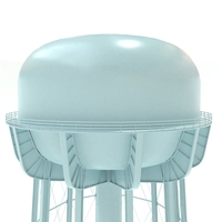 Water Tower of Thomaston 3D Model