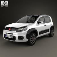 Fiat Uno Way 2015 3D Model