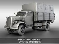 Opel Blitz - 3t Cargo truck 3D Model