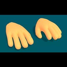 Toon Hand 3D Model