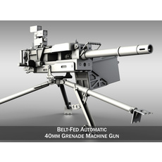 HK GMG - Grenade Machine Gun 3D Model