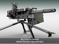 GMG - 40mm Grenade Machine Gun 3D Model