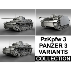 Panzerkampfwagen 3 (Panzer 3) - Collection 3D Model