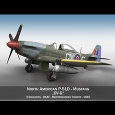 North American P-51D - CV-G 3D Model