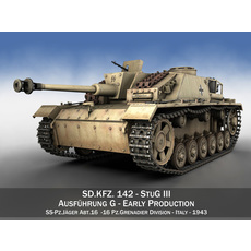 SD.KFZ 142/1 StuG III Ausf. G 3D Model