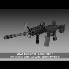 Colt M4A1 Sopmod EOTech552 3D Model