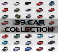 39 Car High Detail Collection 3D Model