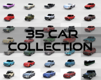 35 Car High Detail Collection 3D Model