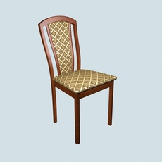 Dining chair made of merbau 3D Model