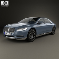 Lincoln Continental with high quality detailed interior 2015 3D Model