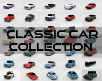 32 Classic Car Collection 3D Model