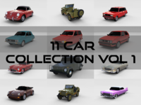 Car Collection Vol 1 3D Model