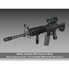 Colt M4A1 Sopmod ACOG 3D Model