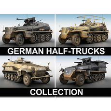German Half Trucks - Collection 3D Model