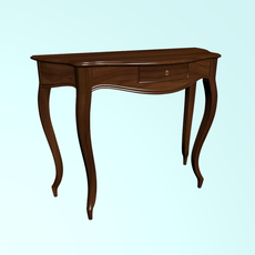 Coffee table made of walnut 3D Model