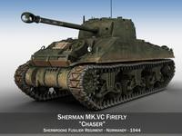 Sherman MK VC Firefly - Chaser 3D Model
