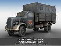 Opel Blitz - Ambulance - SanAbt30 3D Model