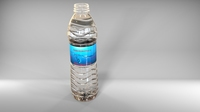 500ml water bottle original model 3D Model