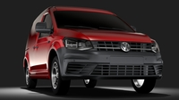 Volkswagen Caddy Panel Van L1 2RD 2017 3D Model