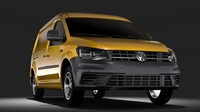 Volkswagen Caddy Panel Van L2 2017 3D Model