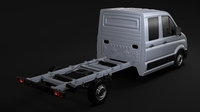 WV Crafter Chassi DoubleCab L2 2017 3D Model