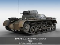 PzKpfw 1 - Panzer 1 - Ausf. A - 13 3D Model