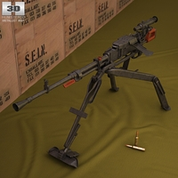 NSV machine gun 3D Model