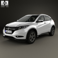 Honda HR-V EX-L with HQ interior 2015 3D Model