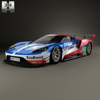 Ford GT Le Mans Race Car 2016 3D Model
