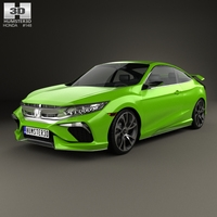 Honda Civic coupe 2015 3D Model