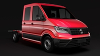 WV Crafter Chassis Double-Cab 2017 3D Model