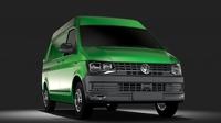 Volkswagen Transporter Van L1H2 T6 2017 3D Model